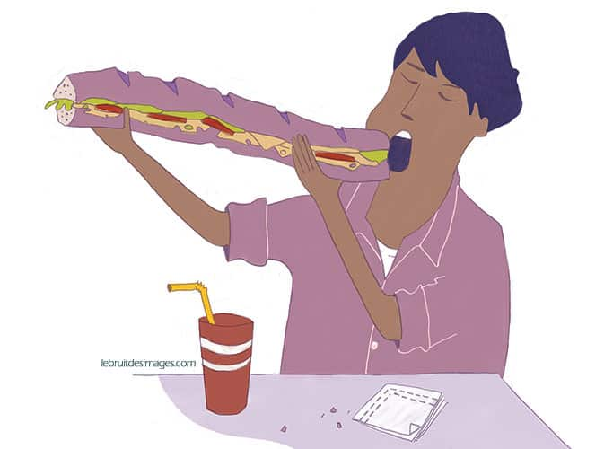 illustration sandwich l'alimentation c'est aussi
