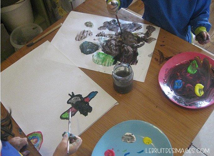 peindre avec des éléments naturels