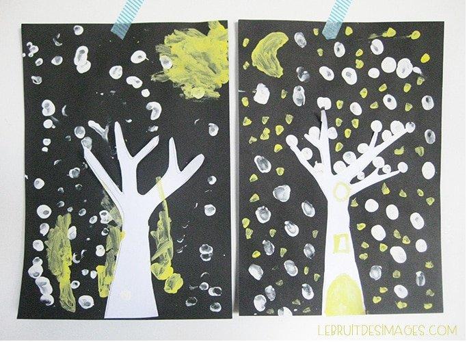 Atelier pour enfants – un arbre sous la neige