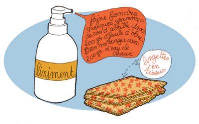 101 gestes écolos (26) Liniment et lingettes lavables