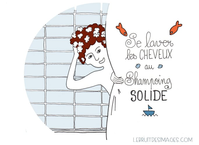 geste écolo : shampoing solide - illustration Marina Le Floch