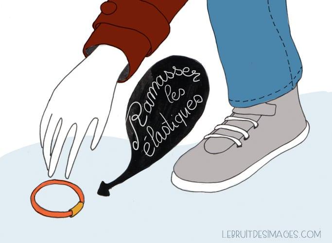 Geste écolo : ramasser les elastiques