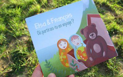 Où partirais-tu en voyage? Illustration d'un album de musique pour enfants