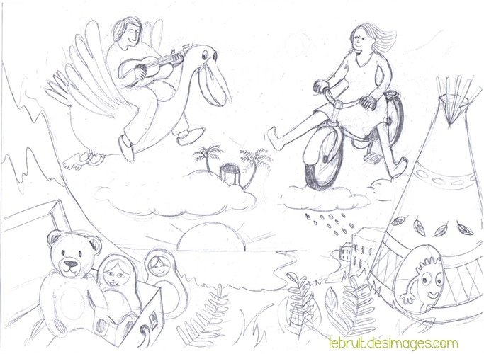 Illustration album Marina Le FLoch projet