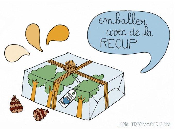 101 Gestes u00e9colos (70) : emballer les cadeaux avec de la ru00e9cup