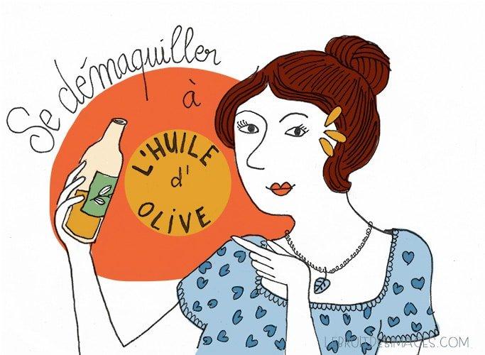 Marina Le Floch : 101 geste u00e9colo - se du00e9maquiller u00e0 l'huile d'olive