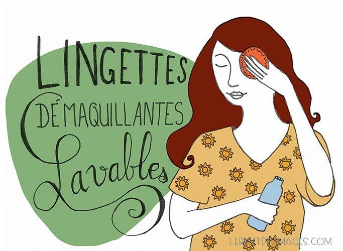 101 gestes u00e9colos - marina Le Floch - lingettes lavables