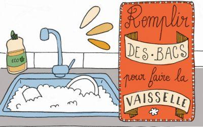 101 gestes écolos (76) : Remplir les bacs pour faire la vaisselle