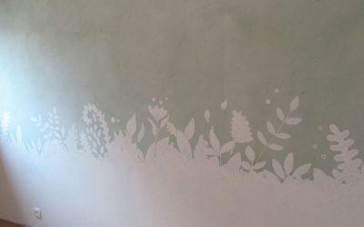 Peinture décorative : chambre 1