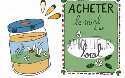 101 gestes écolos (100) : acheter du miel local