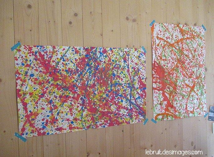 Atelier pour enfants : peindre à la Pollock