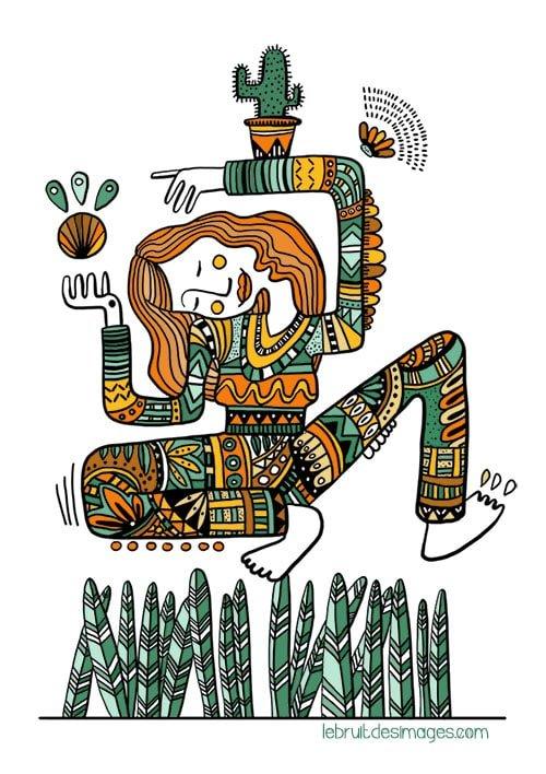 Illustrations : colo de croquis d'Inktober
