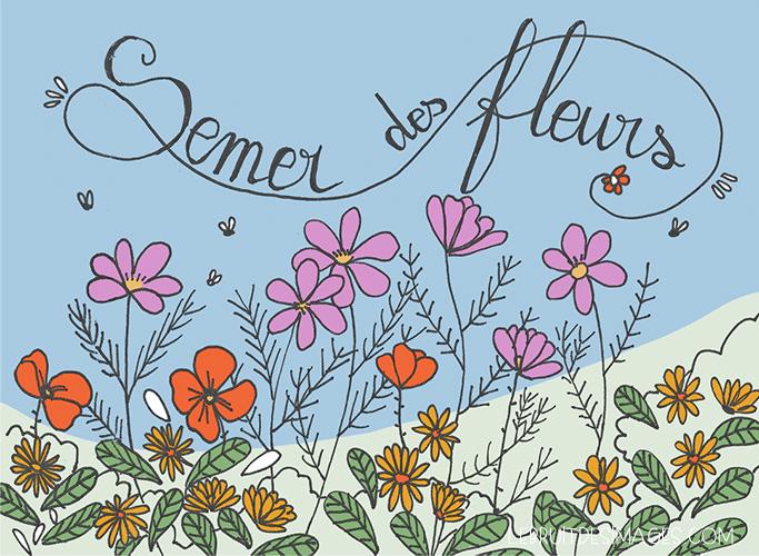 Marina Le Floch -geste écolo- semer des fleurs
