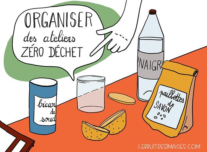 Geste écolo Marina Le Floch Organiser des ateliers Zéro déchet