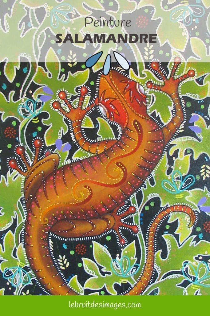 Marina Le Floch peinture, salamandre