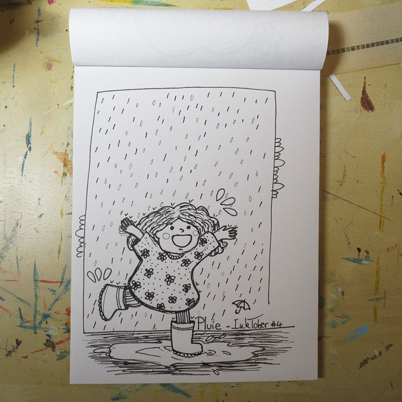 Marina Le Floch Inktober 2018 pluie