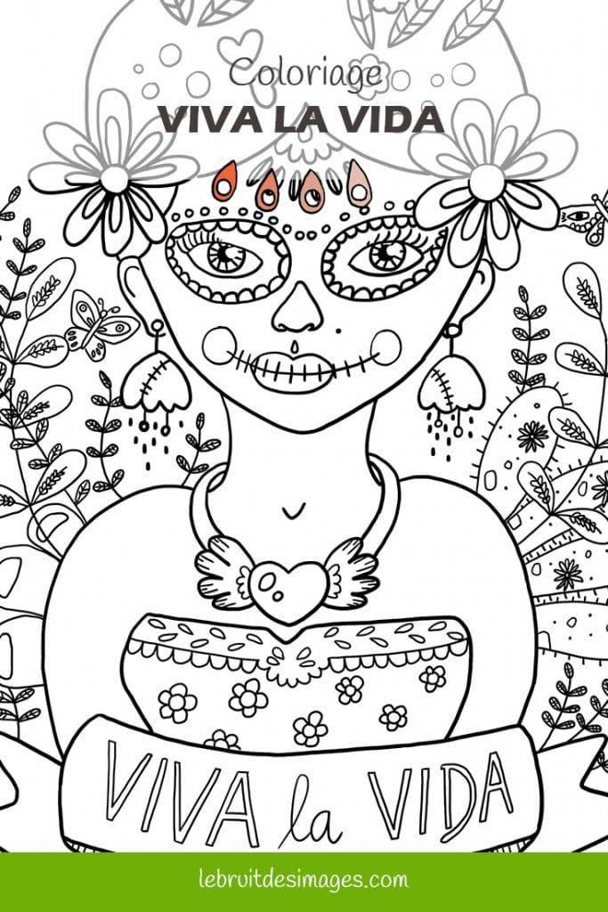 Marina Le Floch coloriage viva la vida