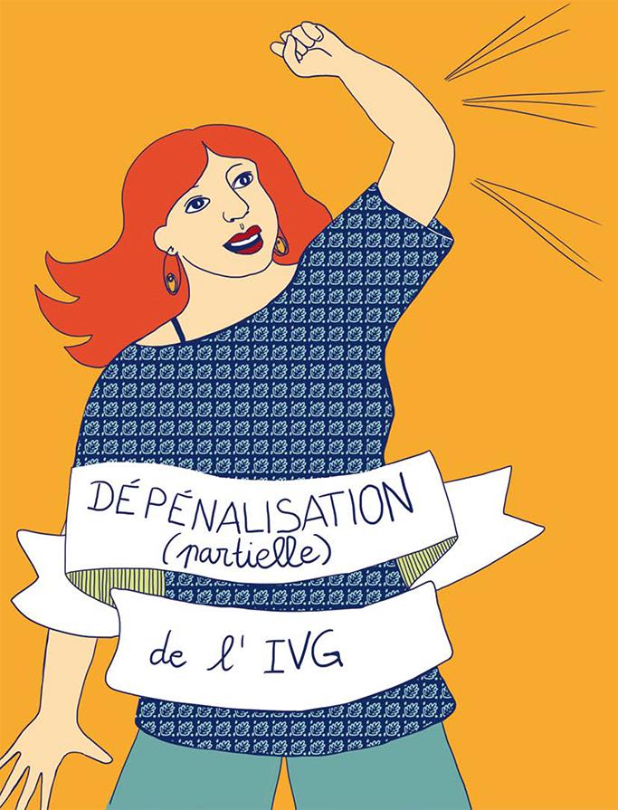 Marina Le Floch illustration Droits de femmes pour Cultures et Santé