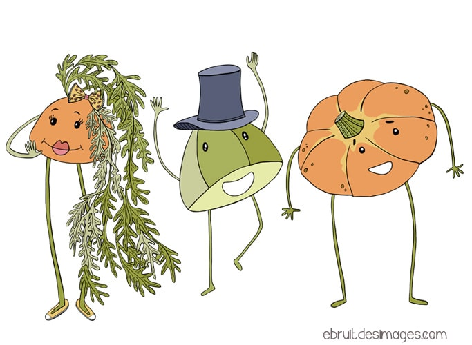 Marina Le Floch illustrations pour Compost day
