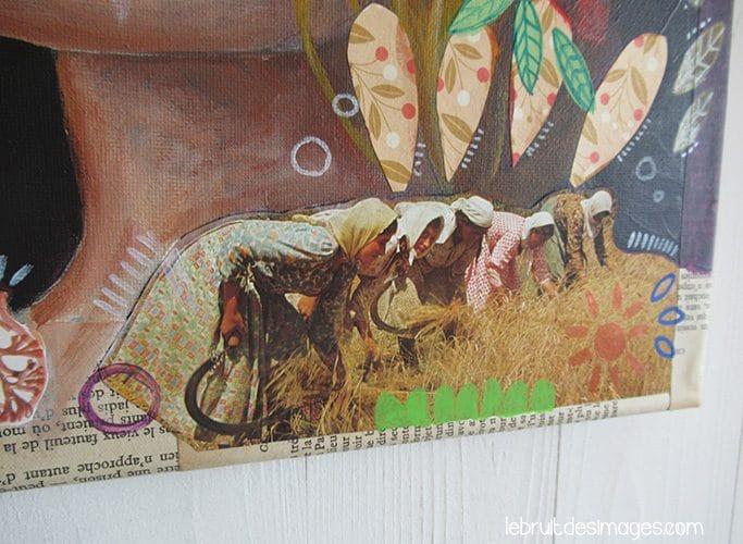 Peinture, Marina Le Floch, Ta jupe Julie! détail