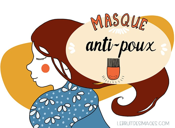 Illustration geste écolo - Marina Le Floch - masque anti-poux