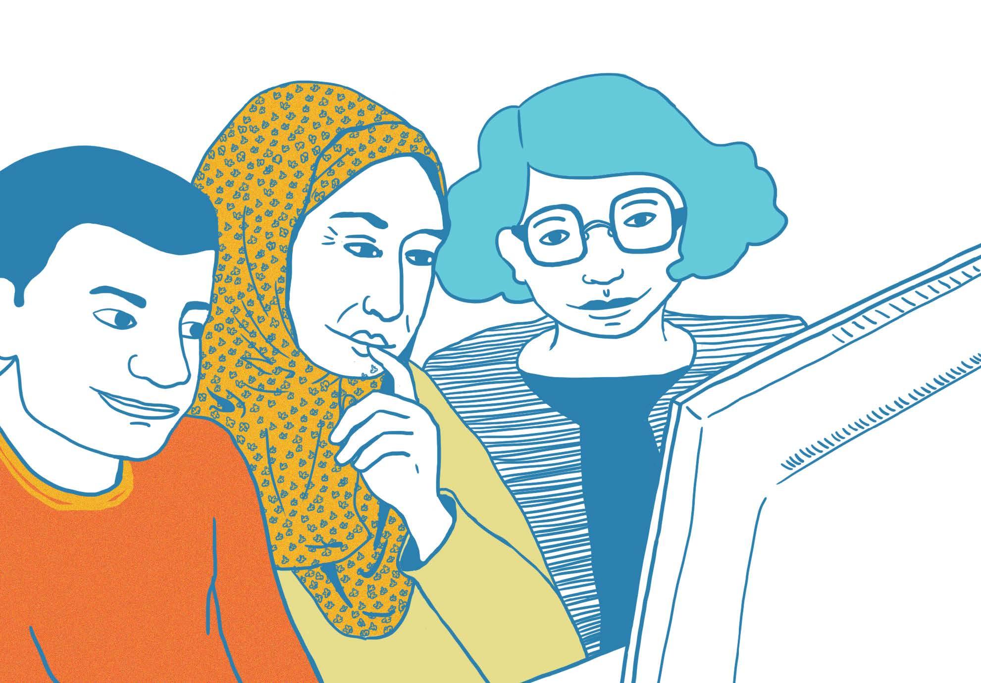 Marina Le Floch illustration Fiche Lisa pour Cultures et Santé