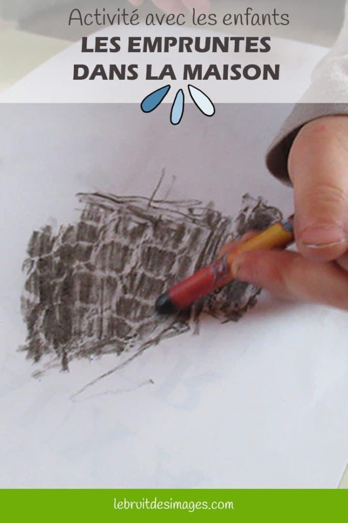 Marina Le Floch, atelier créatif pour les enfants - les empruntes dans la maison