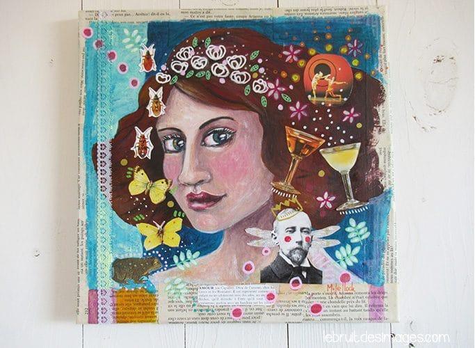 Peinture Marina Le Floch - le rose aux joues