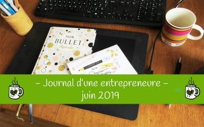 Journal d'une entrepreneure créative : juin 2019