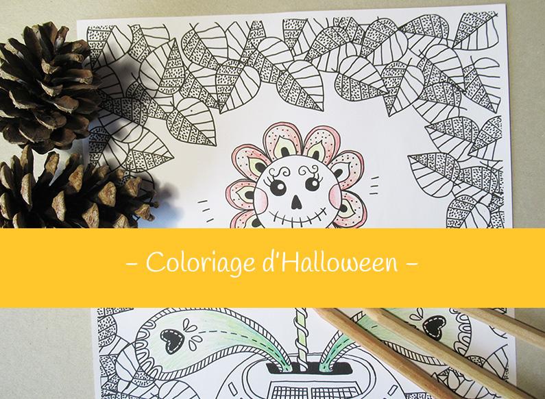 Coloriage pour Halloween