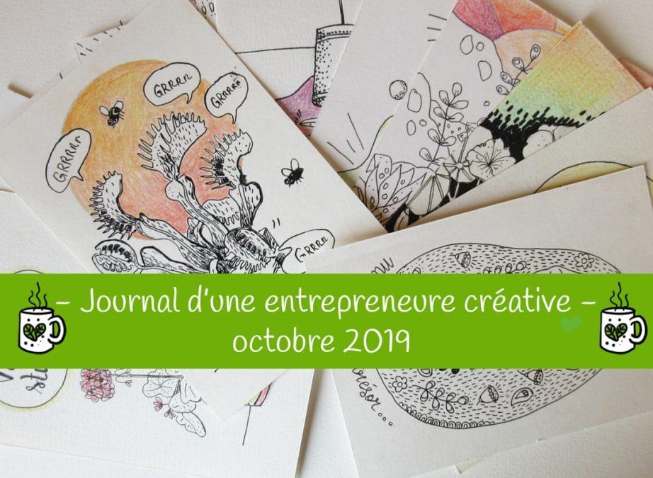 Journal d'une entrepreneure créative – Octobre 2019