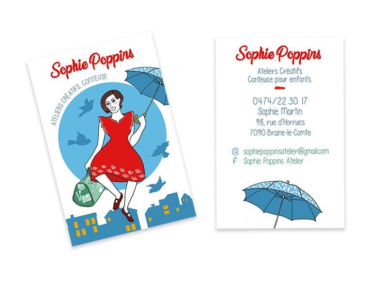 Carte de visite de Sophie
