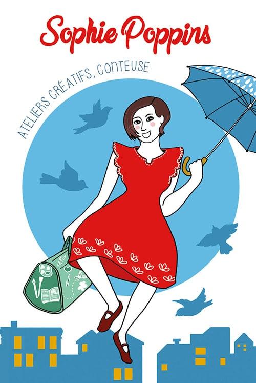 Marina Le Floch illustration pour Sophie Poppins