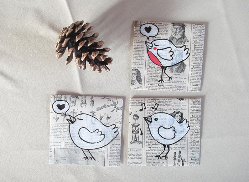 Marina Le Floch illustration enveloppe oiseaux