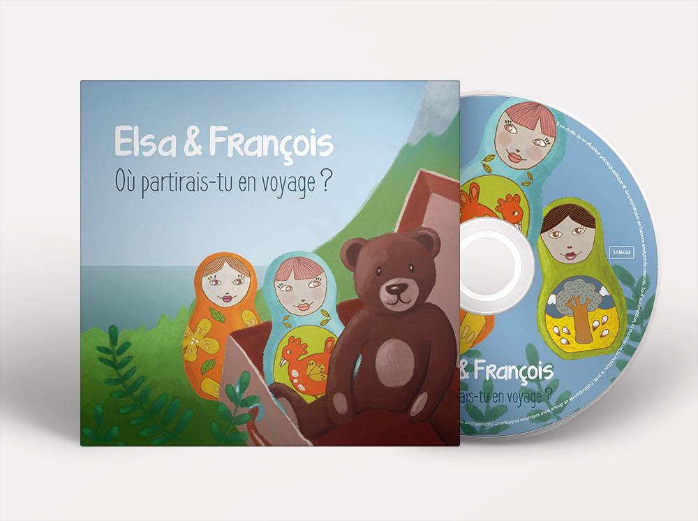 graphisme pochette cd musique pour enfants