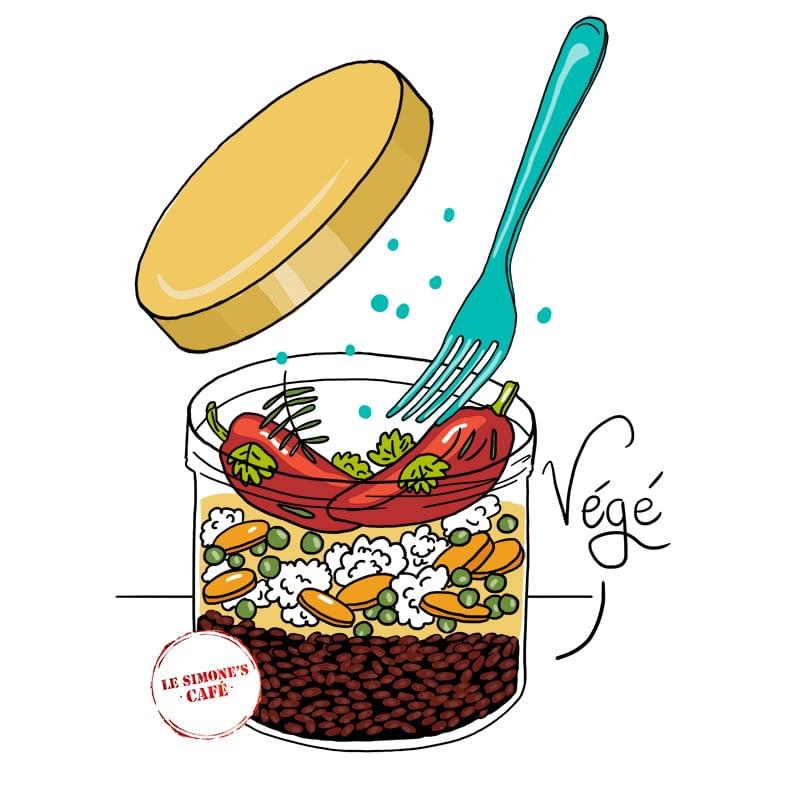 Marina Le Floch illustration pour Simone's Cafe