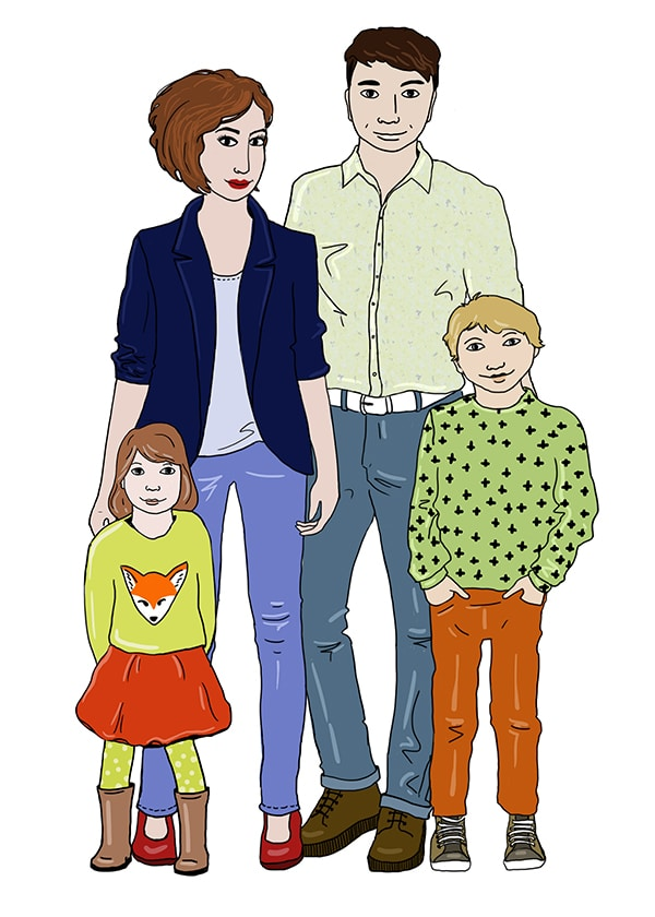 Marina Le Floch illustration faire- part d'adoption