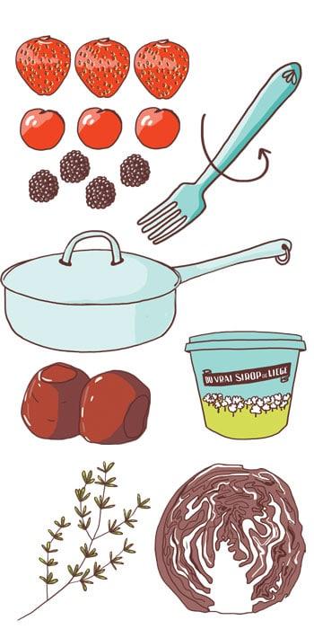 Recette de cuisine illustrée
