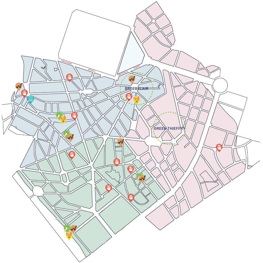 carte de diagnostic de quartier