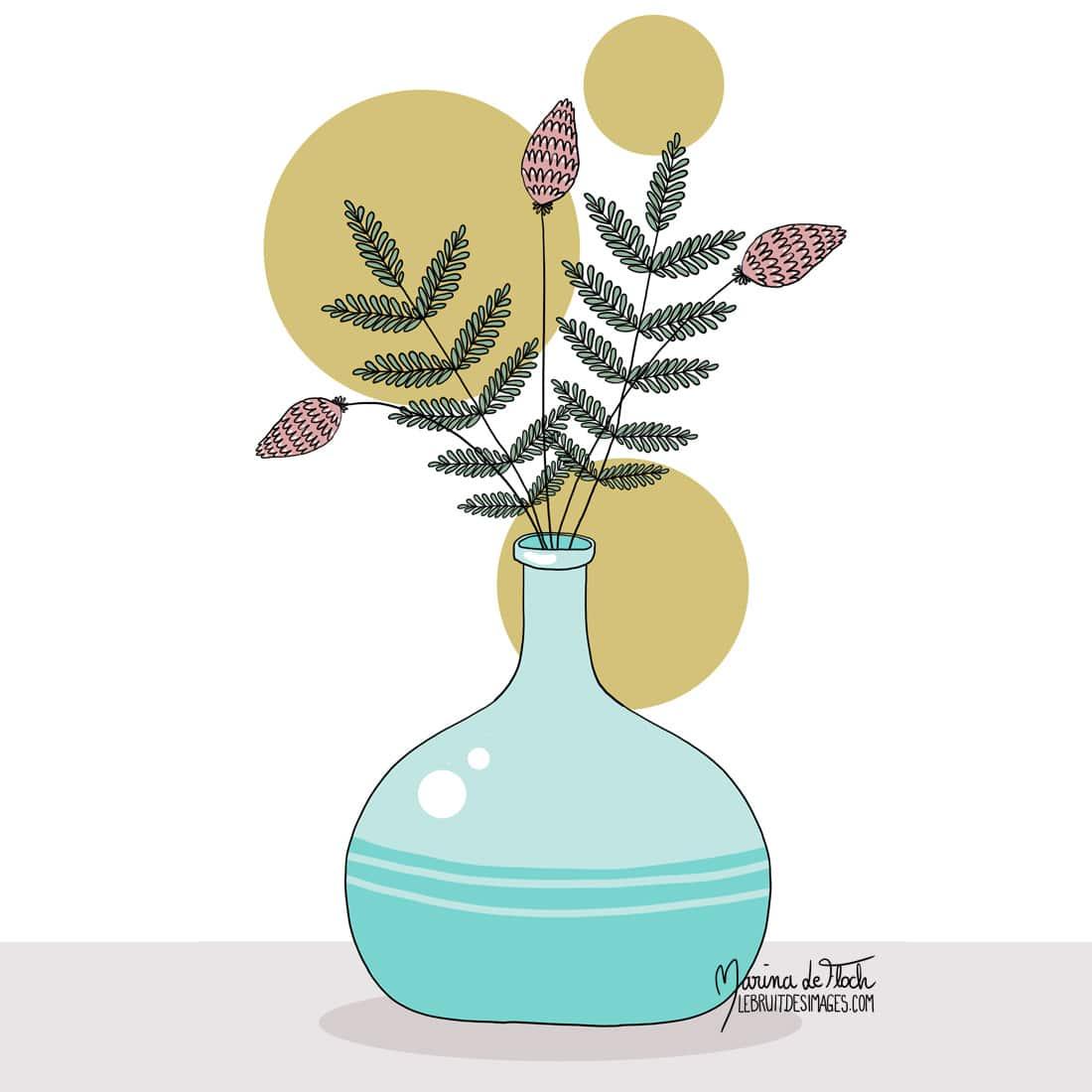 Marina Le Floch illustration faire part